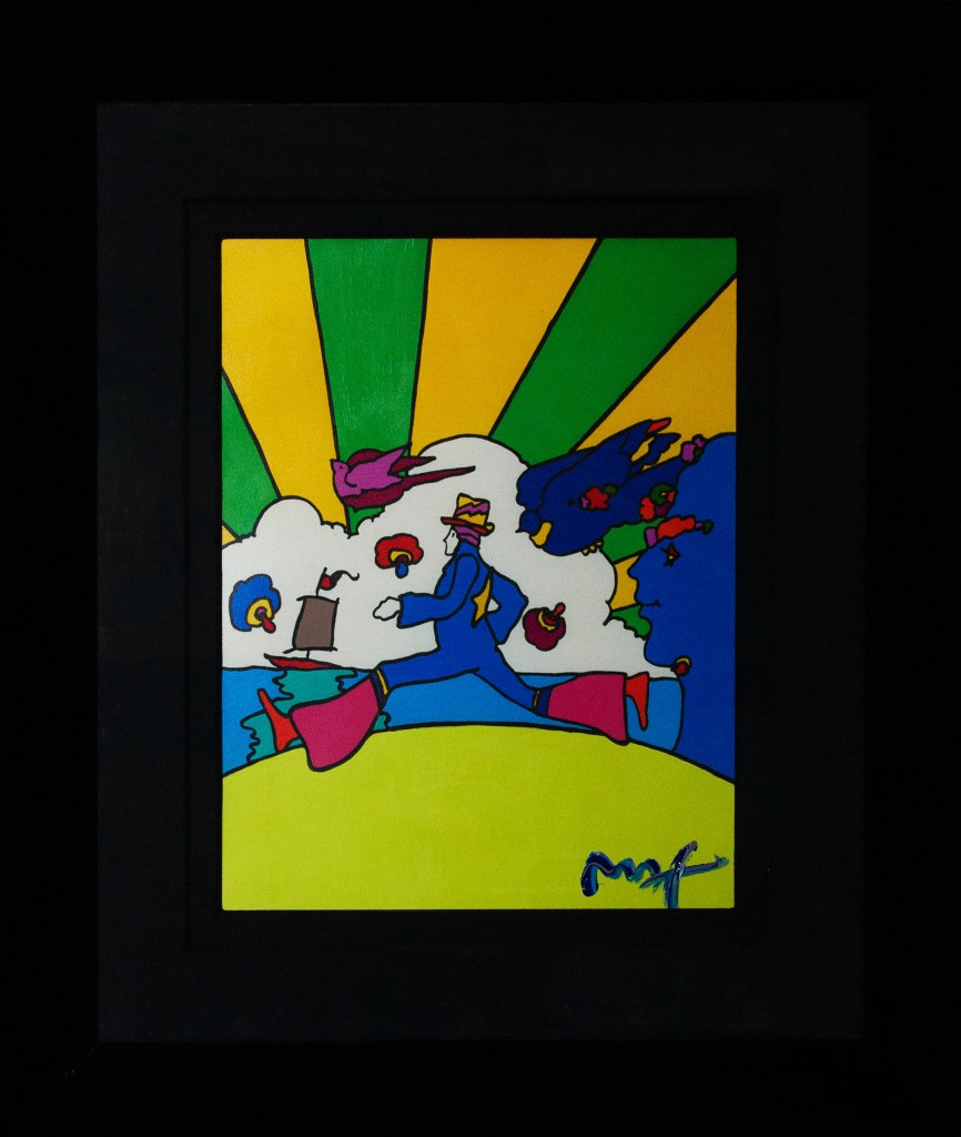 Art for Sale - Peter Max - Cosmic Runner