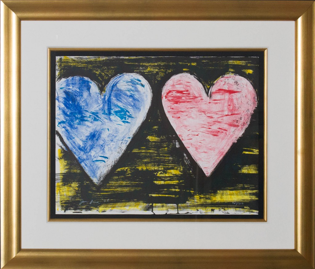 Art for Sale - Jim Dine - Two Hearts at Sunset