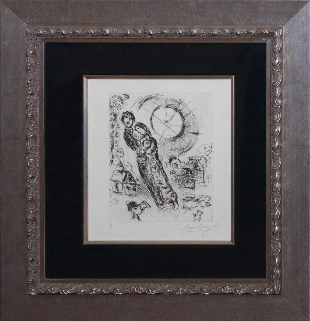 Art for Sale - Marc Chagall – Soleil aux Amoureaux 1968